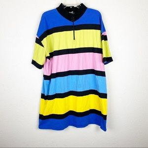 ASOS Striped Color Block High Neck Dress